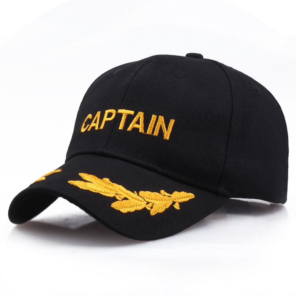US Navy Captain Military Baseball Caps American Commemorative Hat Unisex Embroidery Cap Business Casual Hats Black Sunhat