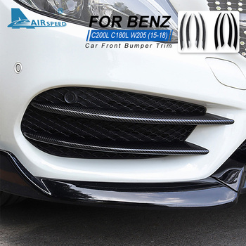 Car Front Bumper Lip Splitter Spoiler for Mercedes Benz C Class W205 C180 C200 C220 C250 C300 C350 C400 C450 C160 Accessories image