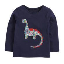 Children Hoodies Dinosaur Girls Little Maven Sweatshirts-Girl Fleece Autumn 51760 Applique