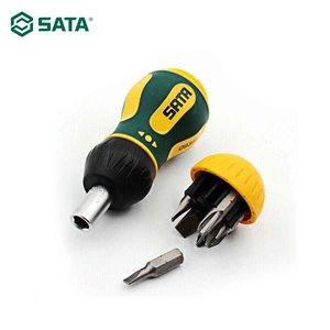 Image 3 - SATA 6 in 1 Stubby Ratcheting Screwdriver Magnetic Multi Bit Hand Tool For Notework Repair Disassemble Tool 09348+2pcs free mask