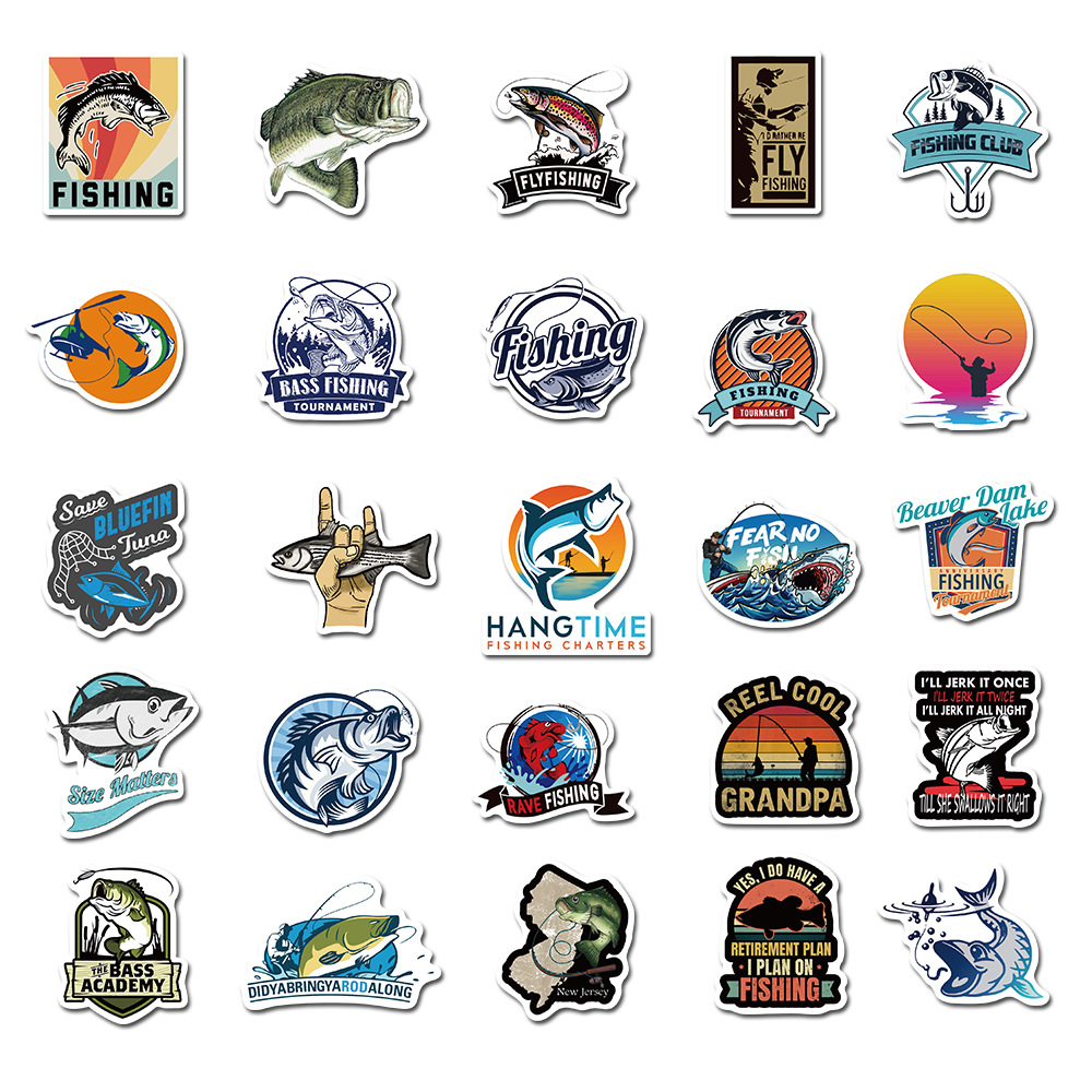 Hooked on Fishing Sticker Pack (50 piece) 4