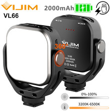 Ulanzi Vijim VL66 Adjustable LED Video Light with 360 Rotation Mount Bracket Rechargable DSLR SLR Mobile Portable Fill Light