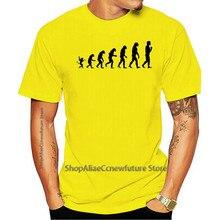 2021 de moda de ocio 100% de algodón o-Cuello camiseta Evolución Humana diversão Geek Macaco Charles Darwin biólogo