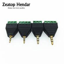 50 pièces 2.5mm / 3.5mm 1/8 pouces 3 / 4 pôles stéréo mâle prise à AV vis bornier Balum connecteur pour CCTV
