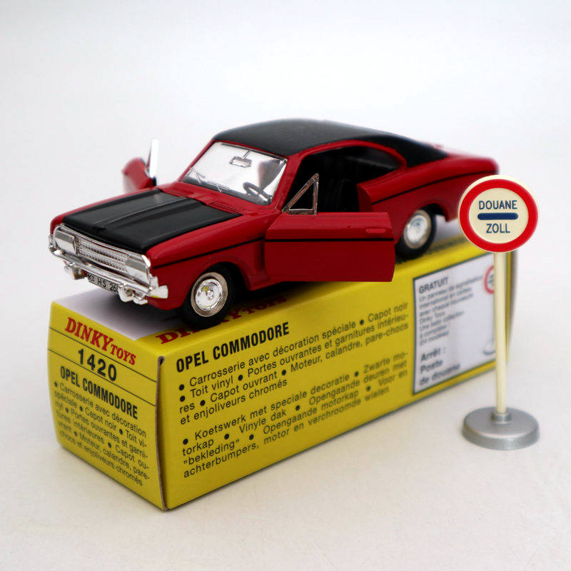 Atlas 1:43 Dinky Toys 1420 Opel Commodore Rekord Diecast Car Auto Models Collection