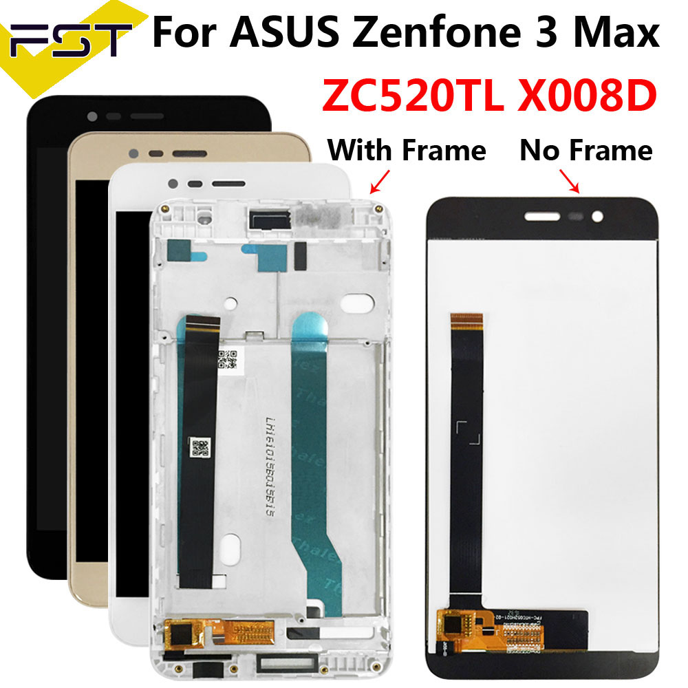 5.2''For ASUS Zenfone 3 MAX ZC520TL X008D X008DC X008DA X00KD LCD Display With Touch Screen Digitizer Assembly With Fame+Tools