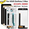 5.2 ''For Asus Zenfone 3 Max ZC520TL X008D X008DC X008DA X00KD Display Lcd con Touch Screen Digitizer Assembly con Fame + Strumenti