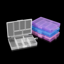 6 Slot Joyero Organizador ( Adjustable) Plastic Jewelry Box Storage Case Craft Jewelry Organizer Container For Jewelry Making
