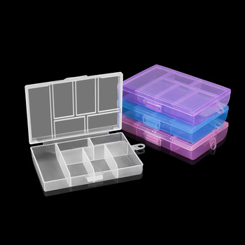 8.4*12mm Holder Case Plastic Jewelry Rectangle Box Case Beads Earring Accessories Storage Boxs Display Organizer Container jhnby plastic rectangle 24 grid compartment storage big box earring ring jewelry beads case container display diy accessories