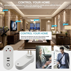 Image 5 - ACCKIP USB Socket Wifi Smart Plug Israel Wireless Power Smart Outlet Wi fi Remote Control Timer Tuya Smart Charger Alexa Google