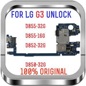 Image 1 - Europa wersja odblokowana dla LG G3 D855 tablice logiczne, 16GB 32GB dla LG G3 D855 płyta główna z System Android dobra praca