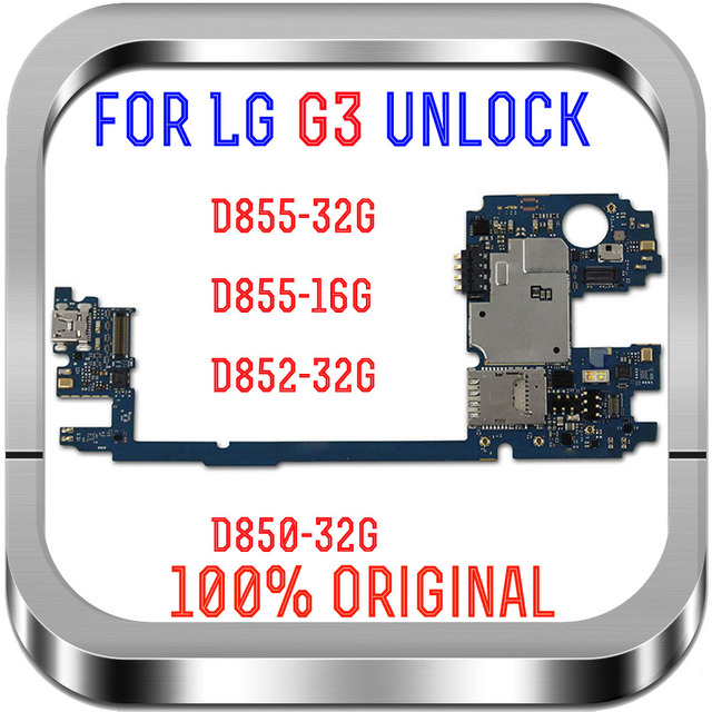 Europe Version unlocked for LG G3 D855 Logic Boards,16GB 32GB for LG G3 D855 Motherboard with Android System Good working