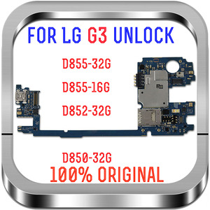 Image 1 - 유럽 버전 LG G3 D855 로직 보드 용 잠금 해제, 안드로이드 시스템이 장착 된 LG G3 D855 마더 보드 용 16GB 32GB