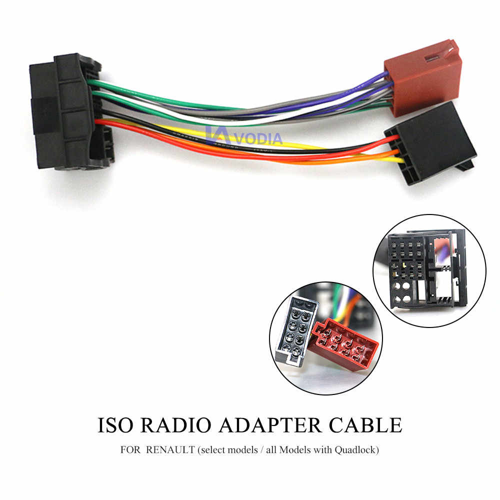 12 127 ISO Radio Adapter for RENAULT (select models all Models with  Quadlock)Wiring Harness Connector Lead Loom Cable Plug    - AliExpresswww.aliexpress.com