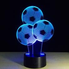 Lampe de Football 3D, 7 couleurs changeantes, lampe décorative pour Table de Football, chambre à coucher, cadeau d'anniversaire, de noël, divertissement sportif, 7 couleurs différentes