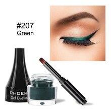 Eyeliner-Pen Makeup-Tools Matte Green-Lasting Waterproof Gum-Not-Fade Natural-Gel Easy-To-Wear