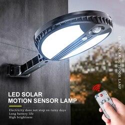 Led solar luzes de rua ao ar livre pir sensor movimento controle remoto à prova dwaterproof água lâmpada parede para a porta da frente garagem iluminação noturna