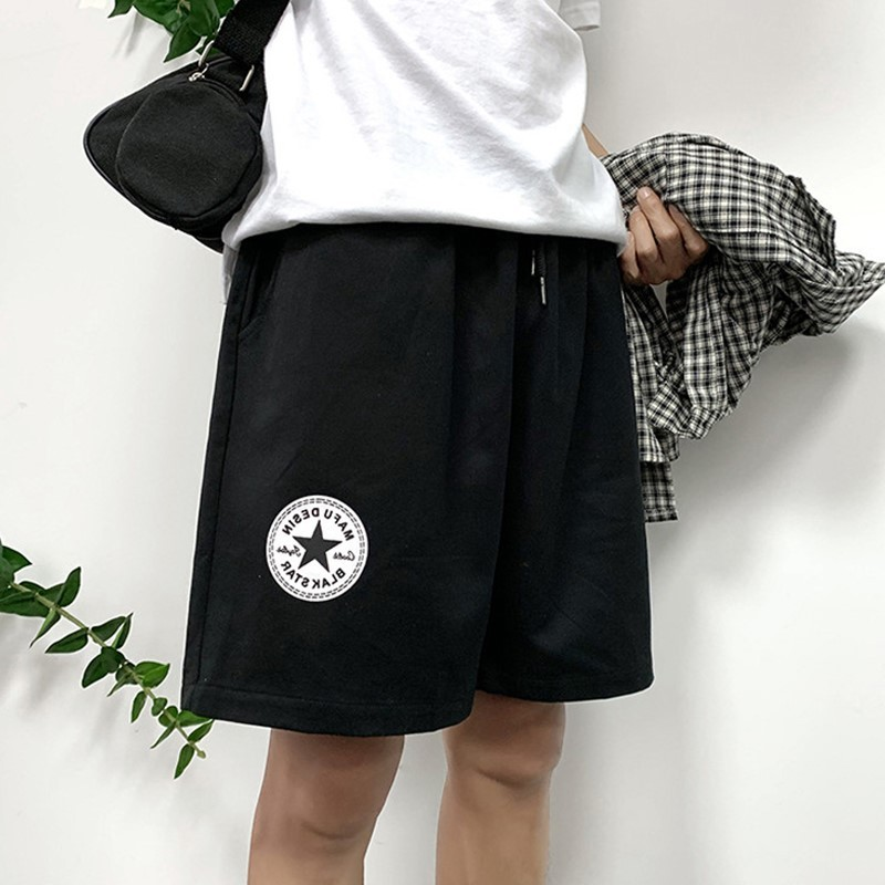 2019 Summer New Style Hong Kong Style Casual Shorts Men Korean-style Trend Labeling Loose-Fit Workwear Shorts