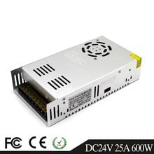 Única saída de comutação da fonte alimentação 600 w 24 v 25a driver transformadores ac110v 220 v para dc24v smps para led lâmpada cctv 3d impressora
