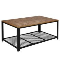 Iron Metal Coffee Table Retro Coffee Table Industrial Style Living Room Home Furniture