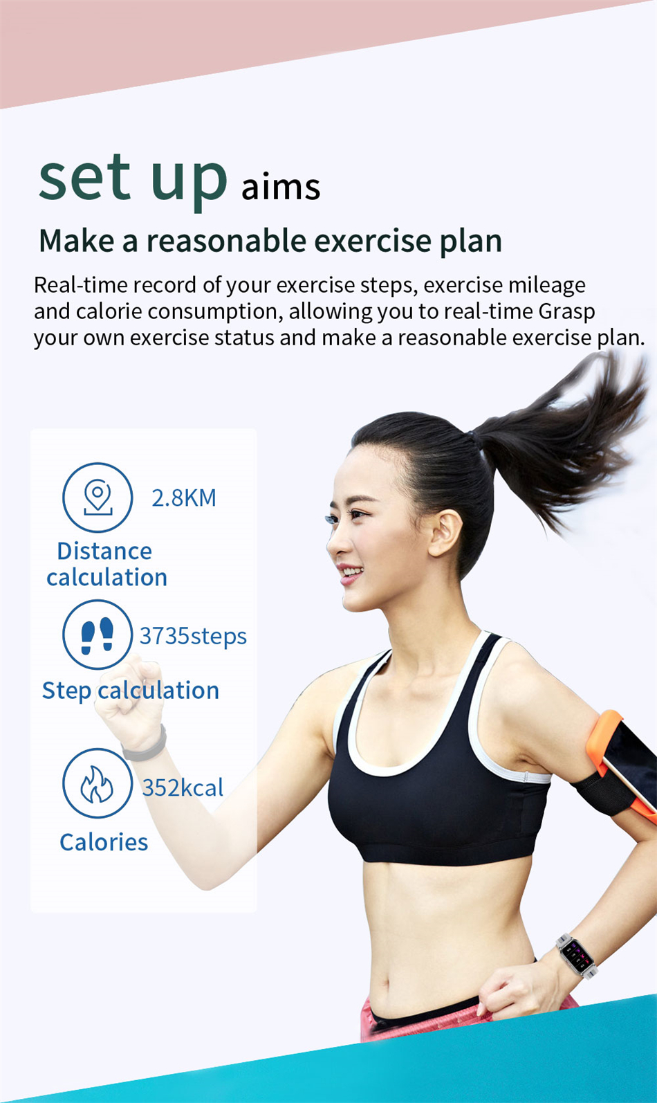 H89e737386d8e4921be7a917eae4dc6326 New Smart Band Watch Fitness Tracker Bracelet Waterproof Smartwatch Heart Rate Monitor Blood Oxygen LED Screen For Huawei Xiaomi
