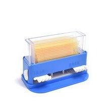 1pc Dental Micro Brush Applicator Dispenser Blue Plastic Dentist Lab Device Equipment With Brush dental lab equipment micro bunsen burner double tube rotatable gas propane light dental lab equipment