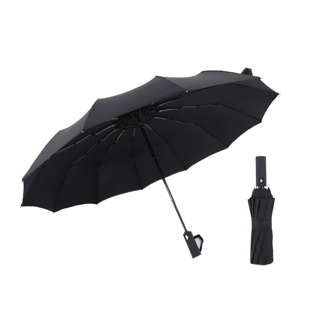 Custom White Swan Compact Travel Windproof Rainproof Foldable Umbrella