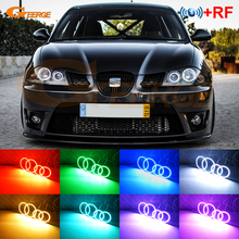 For Seat Ibiza 6L Cordoba facelift 2006 2007 2008 RF remote Bluetooth APP Multi Color Ultra bright RGB LED Angel Eyes kit