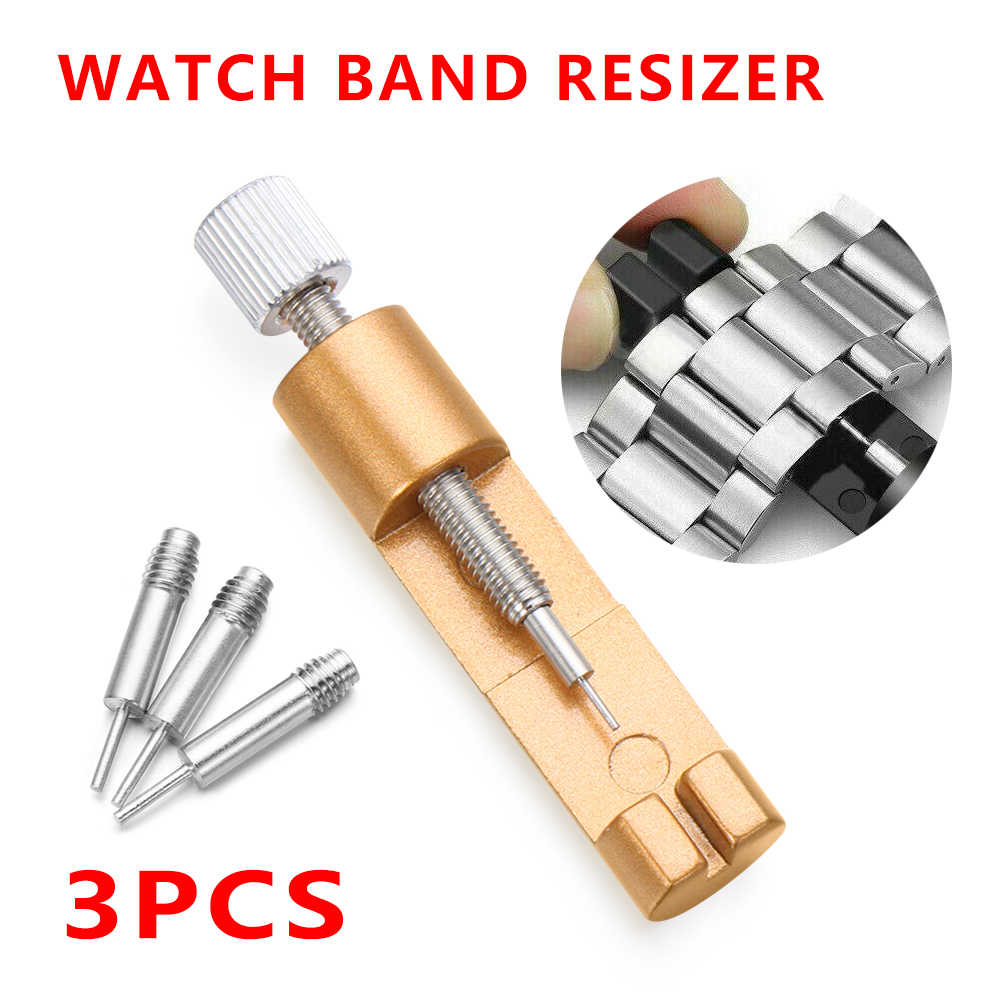 1pc Watch Repair Tool Kit Case Opener Pratical Stainless Steel Adjuster Pins Bracelet Link Watch Strap Band Remover Kit Hot Sale