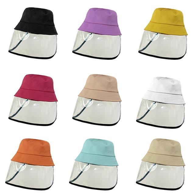Kid Anti-Droplet Saliva Empty Top Hat Anti-spitting Mask Safety Face Proof Mask Child UV Splash Prevents 5