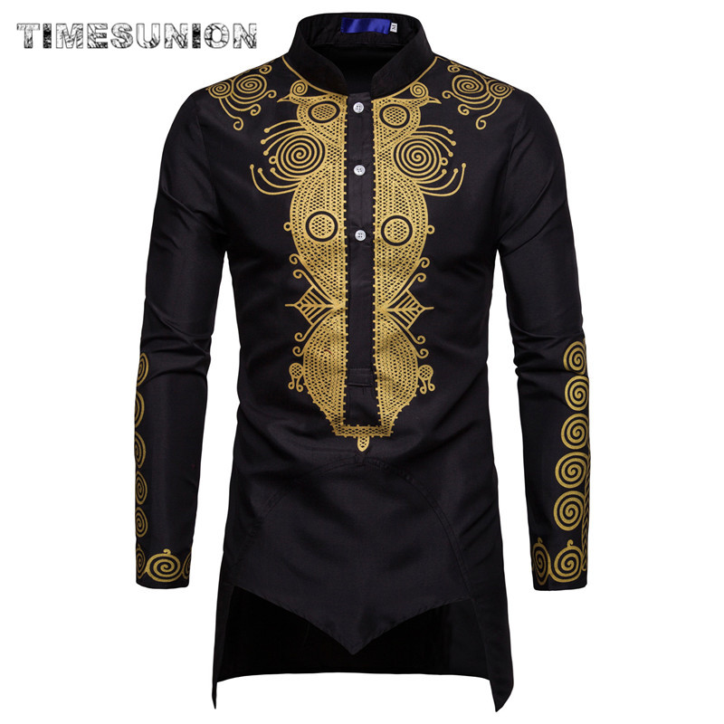 Dashiki Shirt Men Fashion Africa Clothing Long Pullovers African Dress Clothes Hip Hop Robe Africaine Casual World Apparel 2020