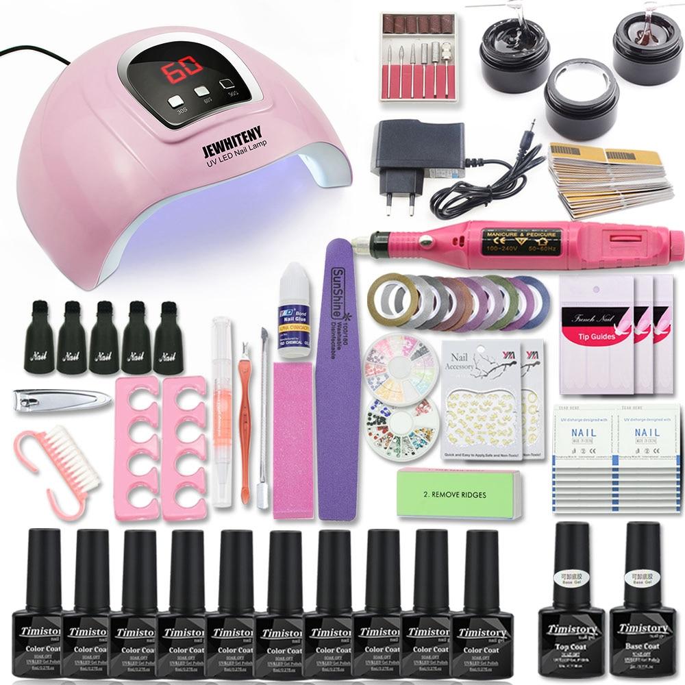 Acrylic Nail Kit Manicure Set for Manicure with UV Nail Lamp 80/54W 20000RPM Manicure Machine Manicure Tool Set Nail File Kit