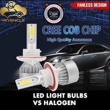 цена на YKVEHICLE C6 Car Headlight Bulbs H3 H4 H11 H13 series 72W Car Accessories 6000K white  H3 H4 H11 H13 led fog light Super bright