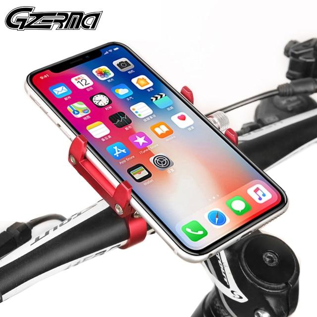 Quad Lock Aluminium Bike Motorcycle Phone Holder Stand For 4 6.5 Smartphone Motorbike Handlebar Bracket Phone Mount For iPhone