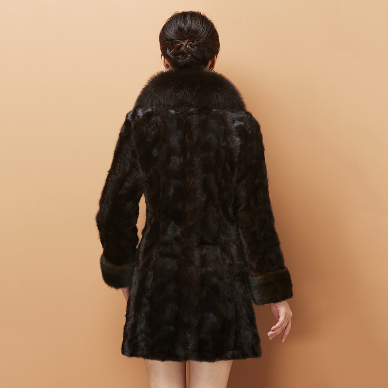 Fur Real Coat Women Winter Jacket 2020 Mink Coat Fox Fur Collar Korean Luxury Jacket Manteau Femme Hiver KJ1037