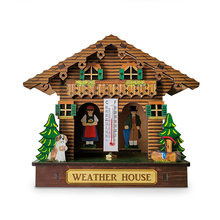 Creative Wooden House Barometer Thermometer Wall Mounted Weather Hygrometer Home Decor