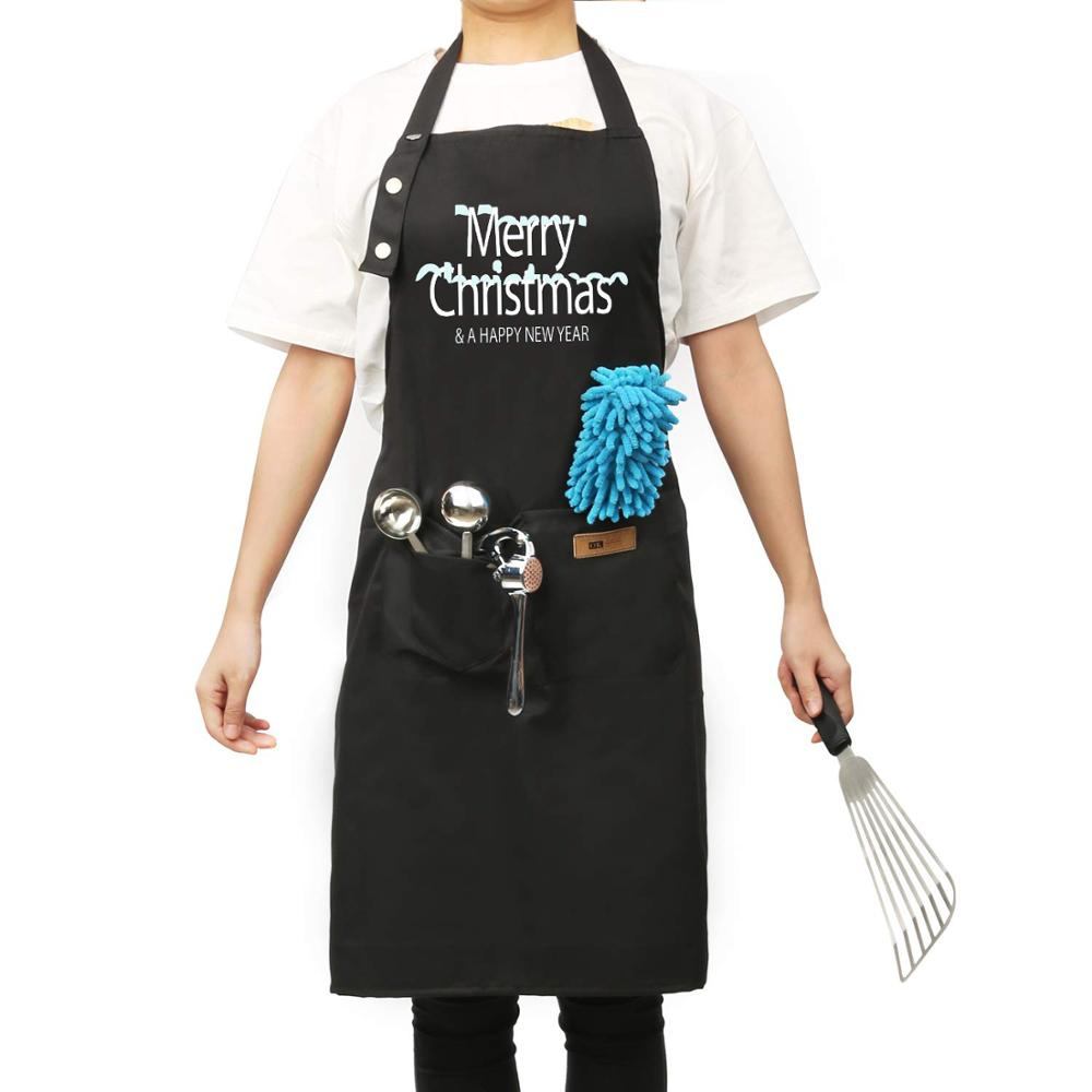 Kitchen Apron For Kitchen Barbecue Grill Work Bench With 3 Unisex Pockets And Adjustable Snaps Waterproof And Stain Resistant