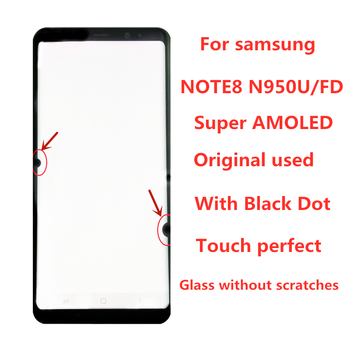ORIGINAL  AMOLED  LCD  for SAMSUNG Galaxy Display NOTE8 LCD N950U N950A N950F Touch Screen Digitizer Assembly With Black Dot original amoled screen for samsung galaxy note 3 lte n9005 lcd display touch panel digitizer with bezel frame assembly
