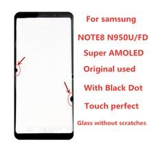 Oryginalny AMOLED LCD do SAMSUNG Galaxy wyświetlacz NOTE8 LCD N950U N950A N950F ekran dotykowy Digitizer montaż z czarną kropką
