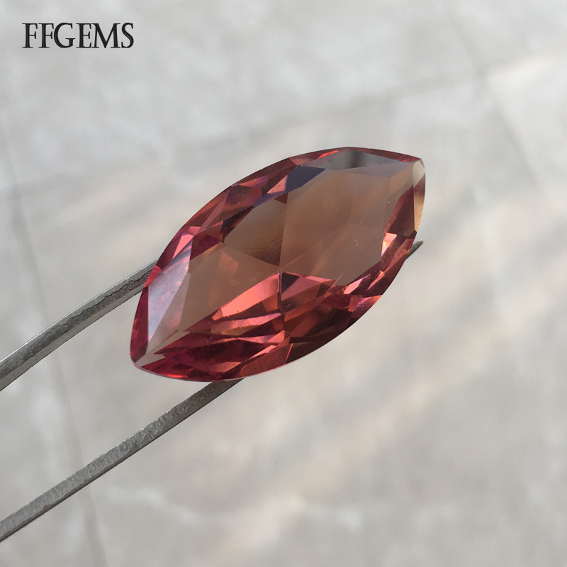FFGems Big Stone 18*35mm Zultanite Loose Gemstone Created Diaspore Color Change for Women Silver or Gold Mounting Diy Jewelry