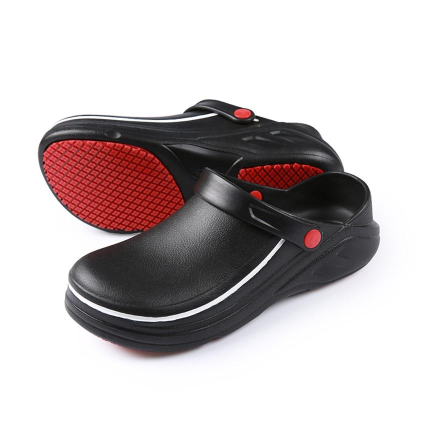 EVA Slip On Man Restaurant Kitchen Wear Chef Shoes Anti-slip Oil-proof Chef Master Cook Bakery Slippers Waiter Soft Sandals