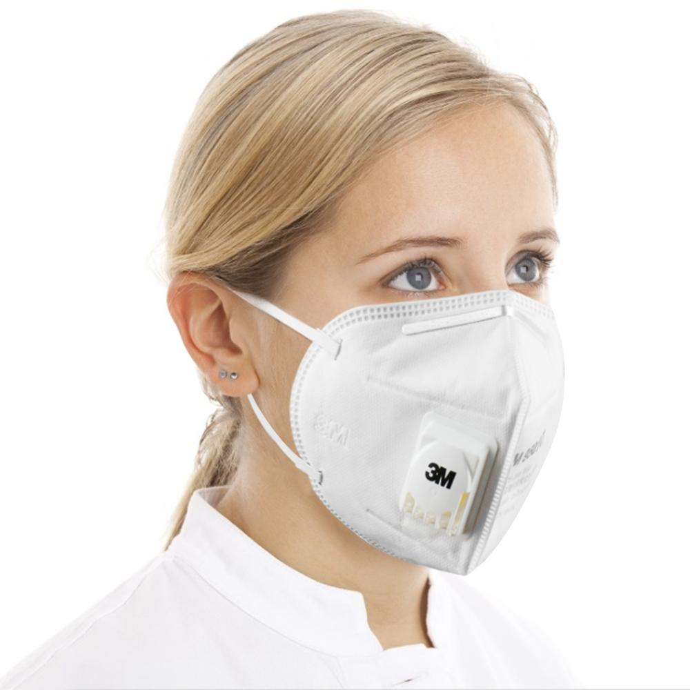 3M 9501VT Masks 25pcs/box PM2.5 KN95 Ear Band Particulate Respirator Dust Mask With Cool Flow Valve Breathable Mask