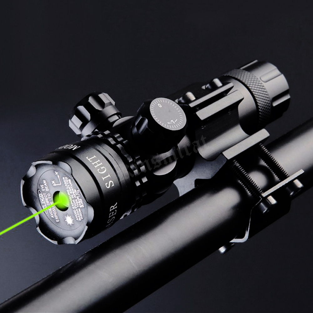 Scope com Montagem para Airsoft Lazer para Trilho de Pistola e Rifle Laser Verde Universal Ponteiro Mira Tactical Caça Tiro