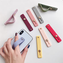 Silicone Phone Hand Band Holder flexible Universal Finger Ring Holder push pull Grip stand for iphonexs xr Xiaomi Smartphone(China)