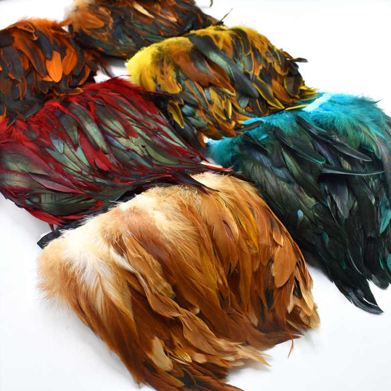 1Meter natural Rooster Feathers trim fringe for craft plumas 13-18cm black feathers ribbon DIY Sewing clothing Party decorations