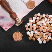Wax Seal Stamp Tablet Pill Beads Sealing Wax Pill Grain Vintage Wax Seal Beads for Envelope Wedding 100pcs in Bag(China)
