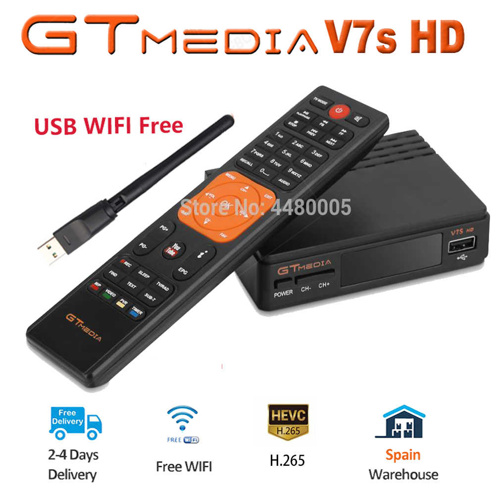 Fta DVB-S2 Satellietontvanger Gtmedia V7S Hd 1080P Met Usb Wifi Upgrade Van Freesat V7