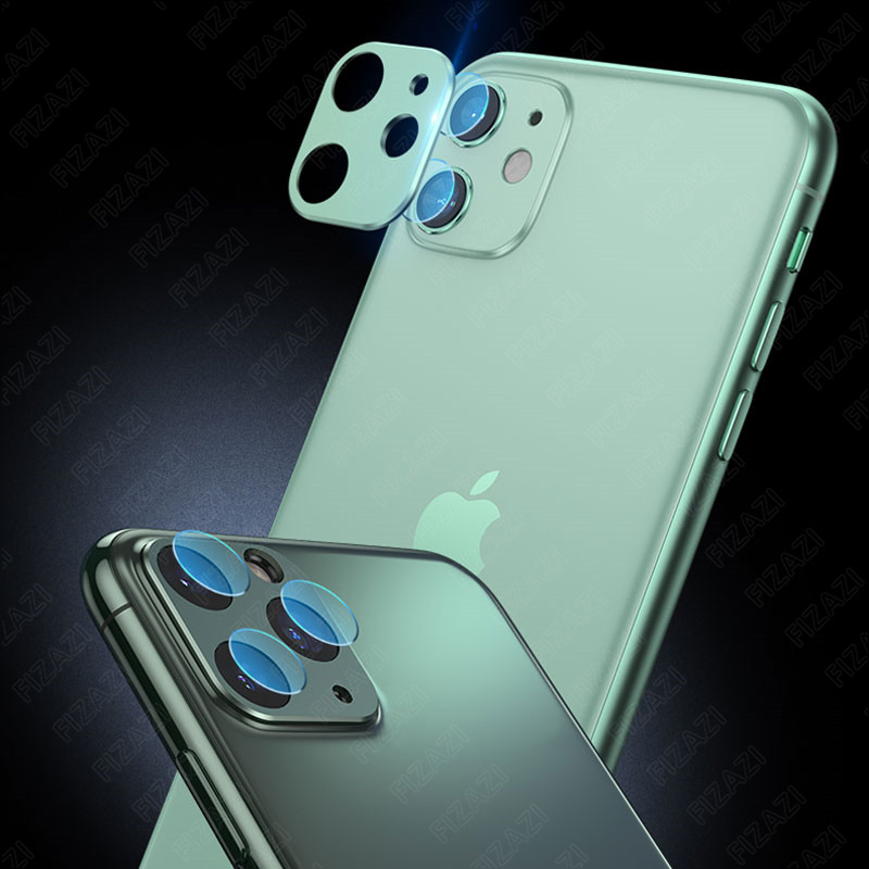 iPhone 11 Pro Max Back Camera Lens Tempered Glass Film Metal Protection Ring Screen Protector