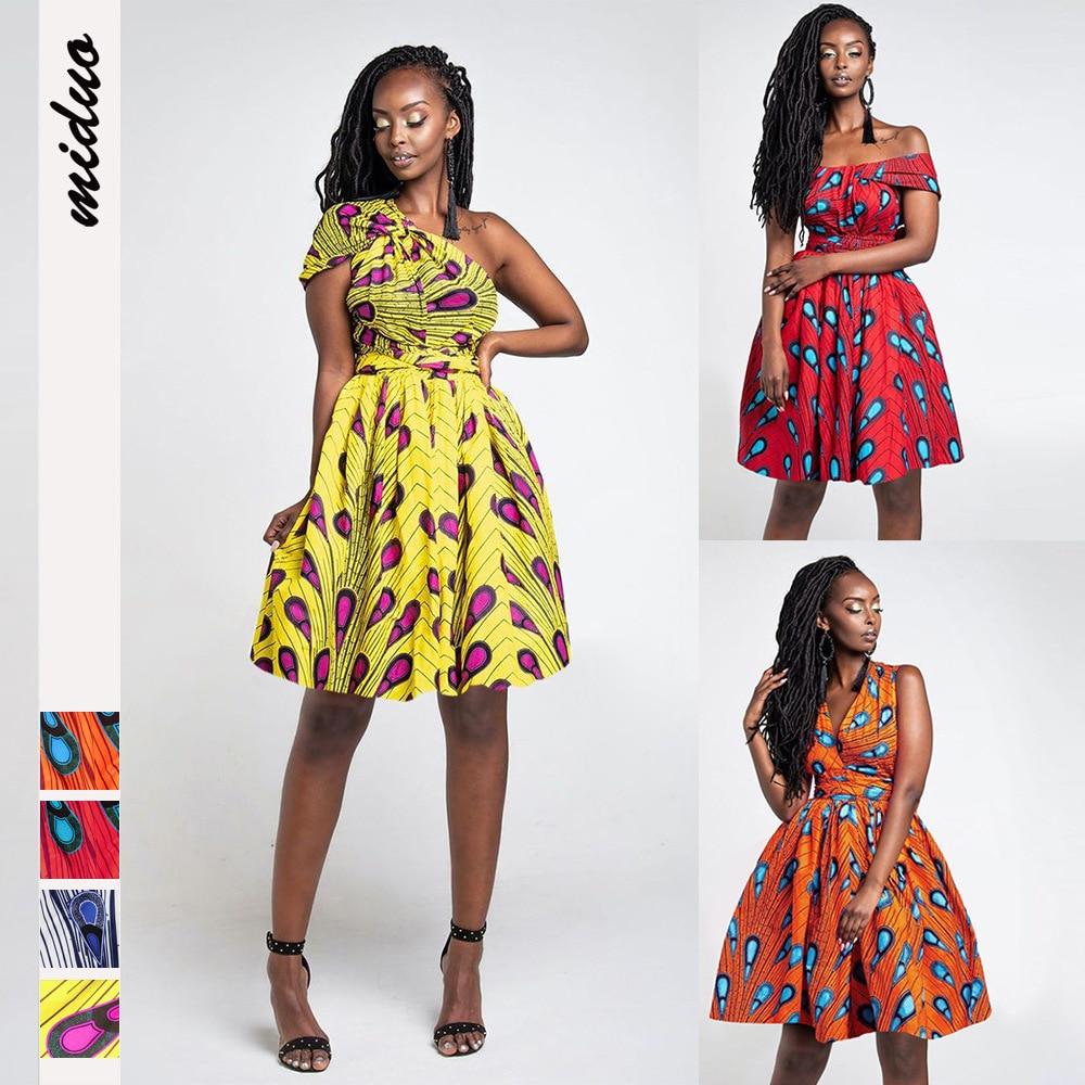 2020 Spring Summer Women African Dresses Bazin Riche Dashiki Print Dress Africa Clothes Sexy Club Night Club Bandage Mini Dress