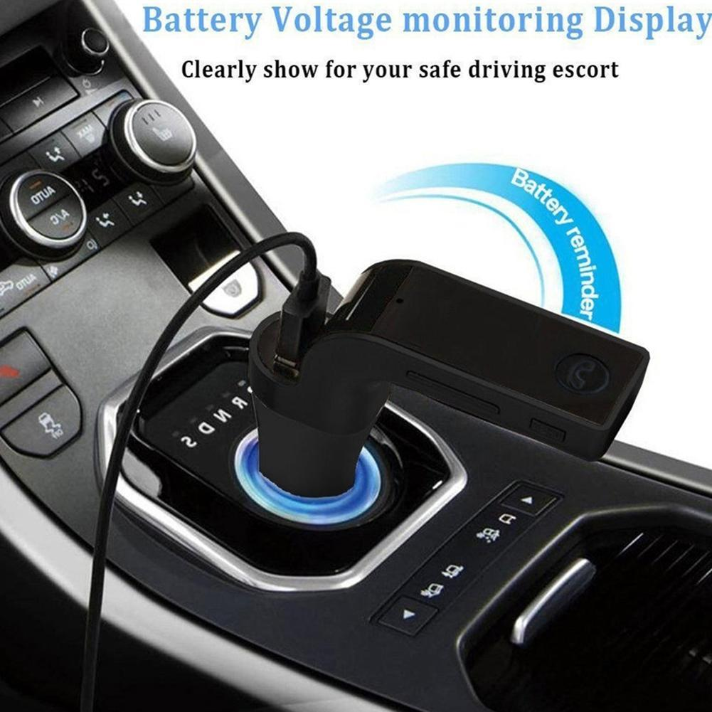 New Bluetooth Car Kit Hands-free FM Transmitter Radio MP3 Player USB Charger And AUX ZZ Car Kit Cigarette Lighter